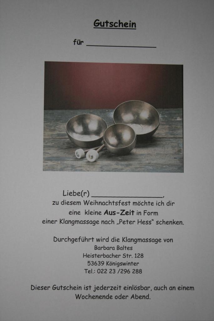 Geschenkgutscheine - Klangschalen - - Klang im Hexenhaus - Königswinter